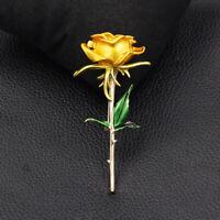 Women's Beauty Enamel Rose Flower Charm Betsey Johnson Brooch Pin Jewelry Gift