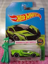 LAMBORGHINI VENENO #165✰Sublime Green;white rim✰Exotics✰2017 i Hot Wheels case H