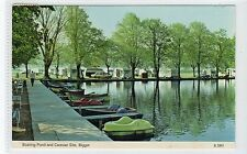 BOATING POND & CARAVAN SITE, BIGGAR: Lanarkshire postcard (C19602)