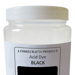50g Fibrecrafts Acid Dye - Black - 100% Dye Stuff for Silk, Wool, Nylon