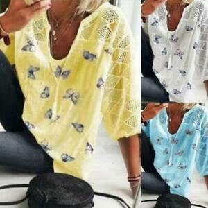 Womens short Sleeve Casual Gifts Hollow Blouse plus size New Fit Summer Tops