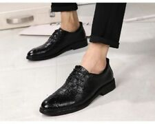 Animal Print Lace-up Pointed Formal Shoes for Men
