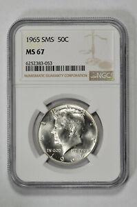 1965 SMS 50C Kennedy Half Dollar NGC MS 67
