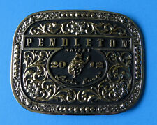 PENDLETON WHISKY 2012 Belt Buckle - NEW Montana Silversmiths USA Cowboy Whiskey