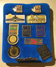 Boxed Set of 11 Kamloops Centennial 1993 Canada Games Pins - Original & Vintage!