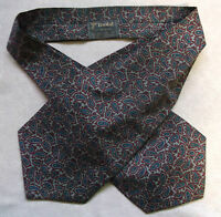Cravat Tootal Vintage Mens 1960s 1970s MOD Retro GREY RED BLUE PAISLEY