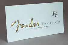 Late 50's early 60's STRAT TREMOLO GUITAR PRECUT WATER SLIDE DECAL HEADSTOCK