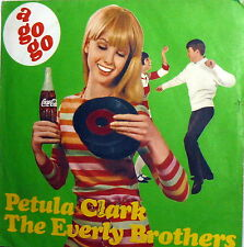 "PROMO COCA COLA THE EVERLY BROTHERS 7"" ITALY  PETULA CLARK THINGS GO BETTER WITH"