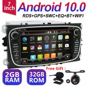 Android 10.0 2 DIN Ford Focus Mondeo C S-Max Galaxy DVD Player GPS Stereo Radio