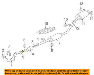 HONDA OEM Exhaust-Catalytic Converter Gasket 18393SS0J30