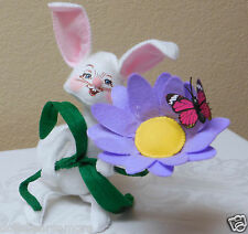 """NWT 2015 Annalee 6"""" """"BUNNY WITH DAISY"""" Doll Figurine #200915 Two Teeth Showing"""