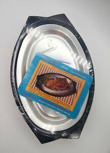 2 VTG New Nordic Ware Servo King Sizzling Steak/Fajita Platters And Trays