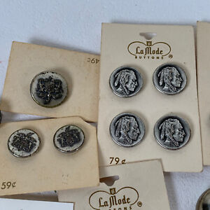 Lot of Buttons Silver and Gold Tone New and Used Grandmillennial Cottagecore