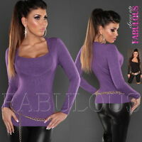 New Sexy Women's Jumper Sweater Knit Top Knitwear Pullover Size 6 8 10 XS S M