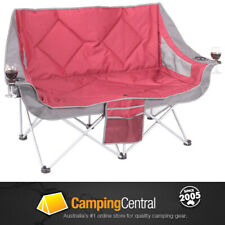 OZTRAIL GALAXY 2 PERSON (RED) MOON CHAIR  ARMS PICNIC CAMP OUTDOOR SEAT 2 SEATER
