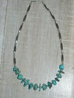 AUTHENTIC Southwestern Sterling Silver & Turquoise necklace **GORGEOUS**