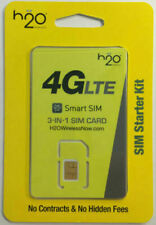 H2O Wireless 3-in-1 Sim card Regular, Micro, Nano. At&T & Unlocked Phones. H20~