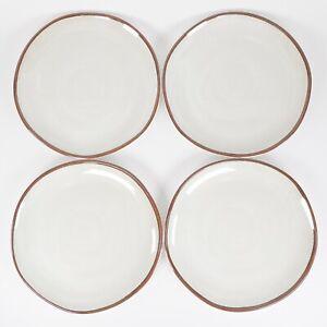"Brown Border Stripe 8"" Melamine Salad Plate Set of 4 - Hearth and Hand Magnolia"