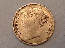 - 1840 East India Company Victoria silver Rupee Type II -divided legend