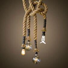 sup Lampada a sospensione retro annata Edison Rope Luce di soffitto Ristorante