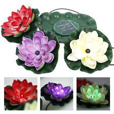 Solar Licht LED Licht Lotus Blume Lampe Schwimmen Garten Pool LED Lampe Leuchte