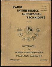 Cold War Signal Corps Guide RADIO INTERFERENCE SUPPRESSION TECHNIQUES Coles Lab