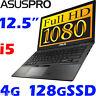 "ASUS-PRO BU201LA Core i5 Durable Carbon 12.5"" Full HD 128G SSD Win7Pro Ultrabook"