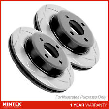 Fits Ssangyong Rexton W 2.0 XDI Mintex Front Vented Drilled Grooved Brake Discs