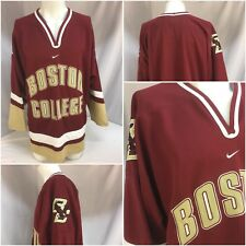 Boston College Nike Hockey Jersey L Red Stitched On Letters Logo Mint YGI 7368