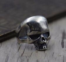 925 sterling silver Retro Biker Rocker  skull  men  ring  Rings jewelry S1589