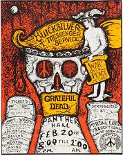 "Grateful Dead Quicksilver Messenger Concert Poster Replica 11 x 14"" Photo Print"