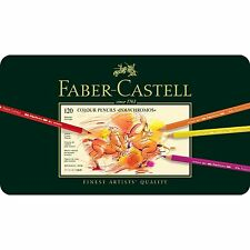 FABER CASTELL  POLYCHROMOS  COLOUR PENCILS - 120 TIN SET  RRP £230.50