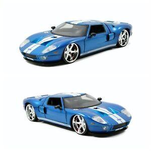 1/24 Jada Ford GT Blue 2005 Fast & Furious Livraison Colissimo Domicile