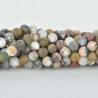 tan natural full strand gja0108 15mm AQUA TERRA JASPER Gemstone Beads blue green Barrel and 10mm Rondelle