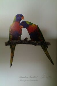 Gordon Hanley, L Edition Print - Classic Bird Study Series - 'Rainbow Lorikeets'