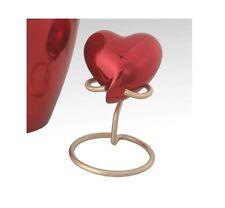 Classic Red Heart Keepsake, Brass Token Keepsake, Cremation Keepsake,Good Deal