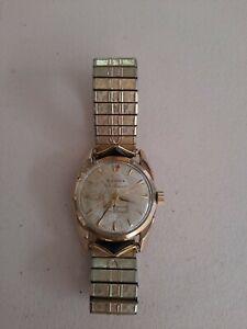 1950s BULOVA 23 Jewels Selfwinding, 6 ADJUSTMENT Sun Burst Mens Wrist Watch RARE