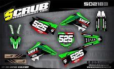 Kawasaki graphics KX 125 - 250 '03-'08 2003-2008 MX SCRUB decals kit stickers