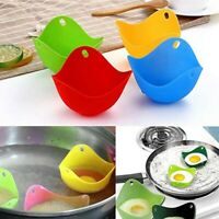 4PCS Silicone Egg Poacher Cook Poach Pods Kitchen Cookware Poached Baking Cup US