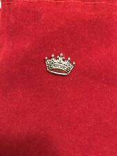 Stunning New Vintage King Crown Design Men's Tie Pin Lapel Pin In Silver