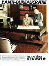 Publicité Advertising 057  1978  les mobiliers de bureau Strafor