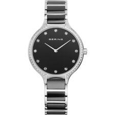 Bering Damenuhr Uhr Keramik Schwarz Armbanduhr Saphirglas 30434-742