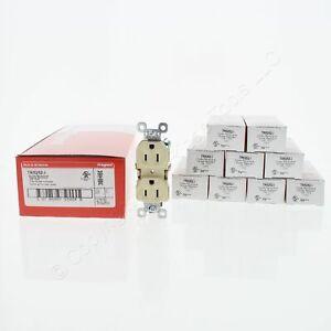 10 P&S Ivory Tamper Resistant Duplex Receptacles NEMA 5-15R 15A 125V TR5252-I