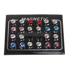 12 paare Mischfarbe Magnetische Ohrstecker Ohrbolzen Ohrringe 6mm Dekoration