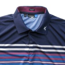 J Lindeberg Mens Golf Polo Shirt Size L Short Sleeve Striped