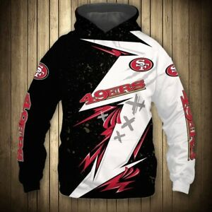 San Francisco 49ers Hoodie Fans Hooded Sweatshirt Lightweight Jumpers Jackets