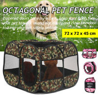 Portable Pet Puppy Soft Tent Playpen Dog Cat Folding Crate Cage Exercise Fence