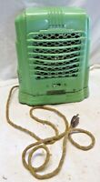 Vintage GREEN Art Deco Cathedral Radio Look Arvin Heater Model 213 Cloth Cord
