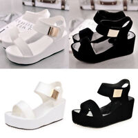 Womens Sandals Wedge Platform Heel Slingback Pumps Ladies Summer Shoes Straps