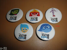 D23 Disney Expo INSIDE OUT 5 PIN set JOY SADNESS ANGER DISGUST amy poehler toy
